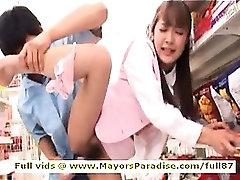 Mihiro smart Asian chick enjoys getting supermarket sex