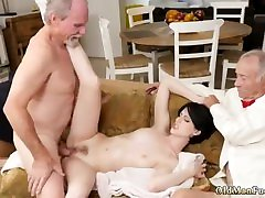 German retro anal hot mature couple outdoor