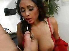 Dr. Priya Rai gives a good suck before she gets pumped hard