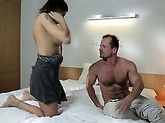 Dude cums two times in hot busty MILF in bedroom