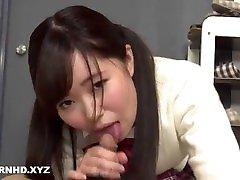 Japanese schoolgirl creampied by tutor