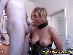 Amateur MILF exposed in BDSM play - anal toys and lingerie