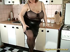 fetish mom playing with her monster boobs