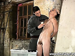 Hot gay sex Poor Leo cant escape as the cool twink gets his