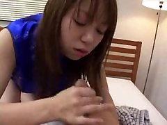 Asian CFNM Handjob