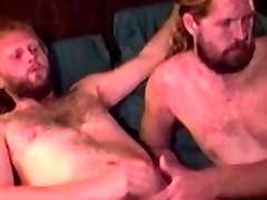 Mature straight bear tugging and giving hot blowjob