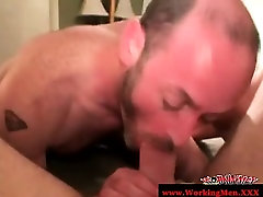Amateur gay bears anal sex action
