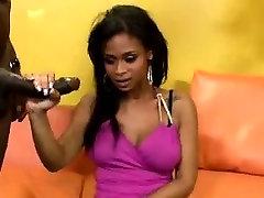 Beautiful ebony whore enjoys brothas huge shaft in parody