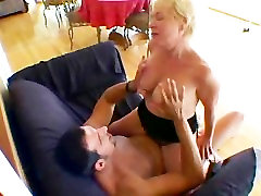 Blonde Mature Nails Boy Toy!