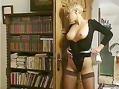 Retro couple fuck while the maid watches