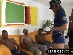 black gang bang whyte pussy