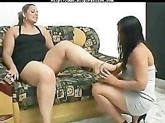Eat My Fat Foot lesbian girl on girl lesbians