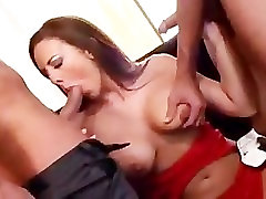 julie robbins gets both holes filled anal dp