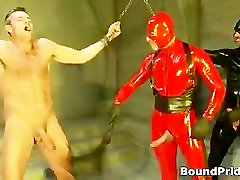 Bound dude whipped and fucked gay BDSM part6