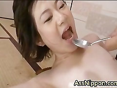 Cute Asian Babe Sucking Hard and Fucked part1