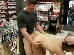 Blonde slut with white panties sex