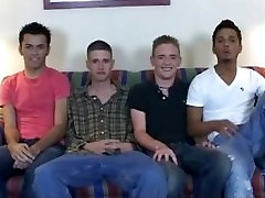 Straight guys in gay anal orgy video part3