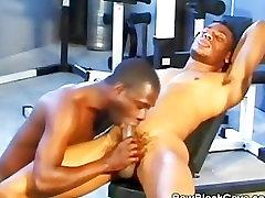 Black Men Cock Sucking at the Gym