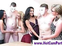 Cfnm group british girls handjobs cumshots