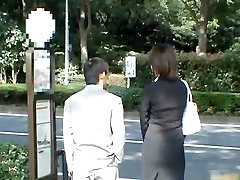 Asian lady is tall and gets public sex part1