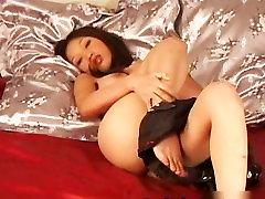 Beautiful asian amateur naked dildoing part6