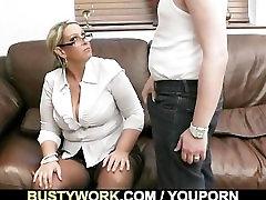 Big titted salesgirl gets screwed