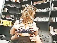 big tits girl gets fucked and sucks on couch