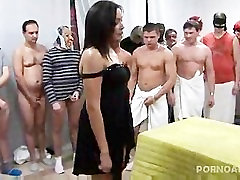 Gangbanged and Jizzed on by 30 men
