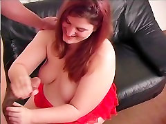Fat Girl Gives A Handjob