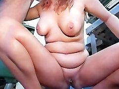 Chubby Blonde German Mature
