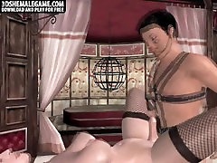 Foxy 3D cartoon shemale honey getting fucked anally