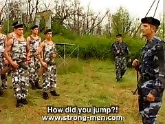 Three Military Hunks Fucking
