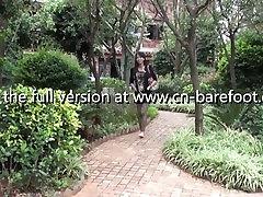 asian barefoot girl