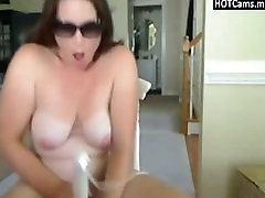 Busty Chubby Brunette Uses Some Sex Toys