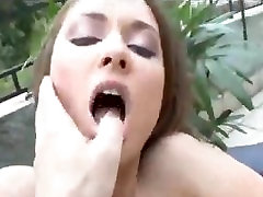 Outdoor ass fucking with the slutty Euro girl