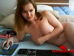 Hot Body Strawberry Blonde MILF Bedroom Fisting