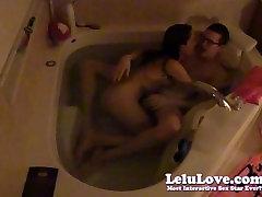 Lelu Love-Underwater BJ Sex In Bathtub