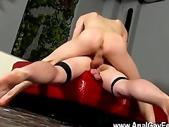 Twink video He gives the straight bottom plenty of striking all through
