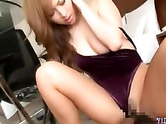 Cute Asian Girl In Aerobic Dress And Pantyhose Getting Her Hairy Pussy Fuck