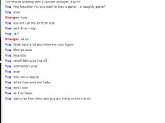 Teen plays the omegle game