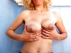 Kinky Mommy Milking her Boobs