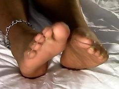 Ebony Wifes Nylon Soles