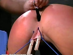 Crystel Leis bizarre hardcore and extreme ass punishment of cheeky blonde