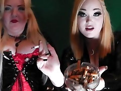 Princess Doll& Mistress Beee Double Domme Smoking Fetish.
