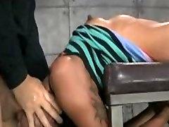 bondage with lil black slut by white man