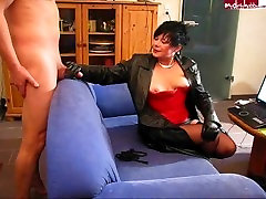 German mature in full leather