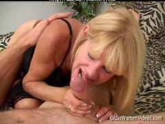 Granny Tanned Blonde In Action. mature mature porn granny old cumshots cumshot
