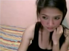 cute asian girl on webcam