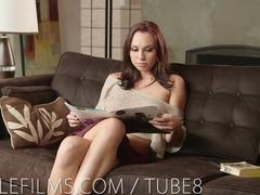 Nubile Films - Teen hottie swallows mouthful of cum