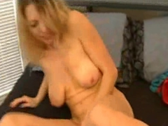 Mature Blonde Babe Playing